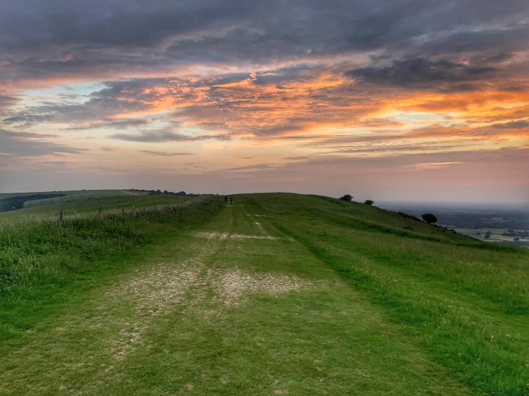 South Downs Way at dusk
